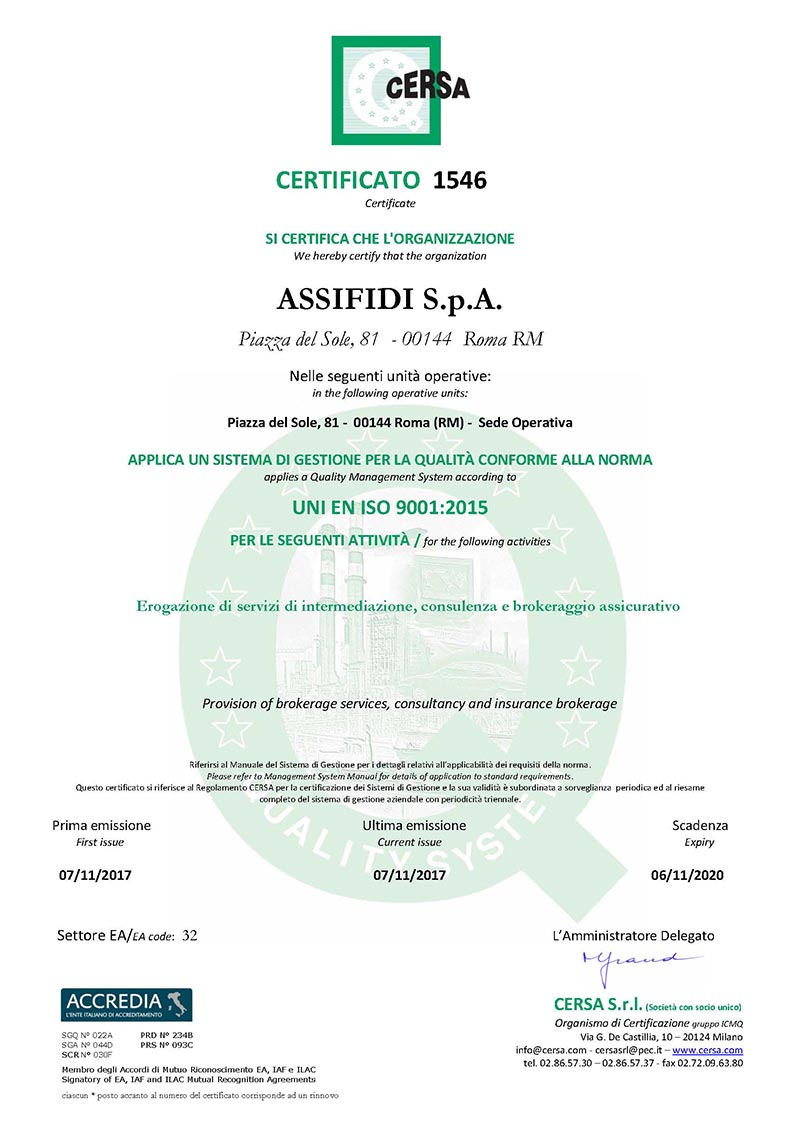Assifidi Certificazione-UNI-EN-ISO-9001-2015